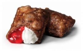 Шоколадный пирожок клубника - крем-чиз